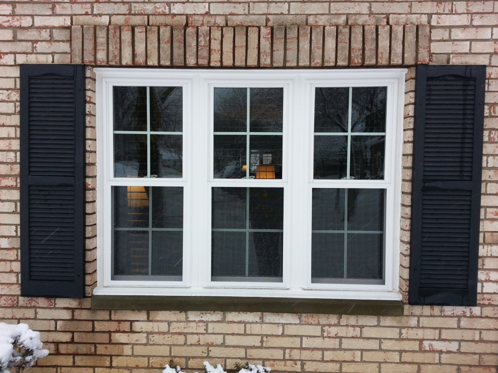 3 Double Hung Windows With Grids ⋆ Integrity Windows