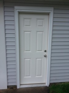 smooth fiberglass entry door Rocky River Ohio