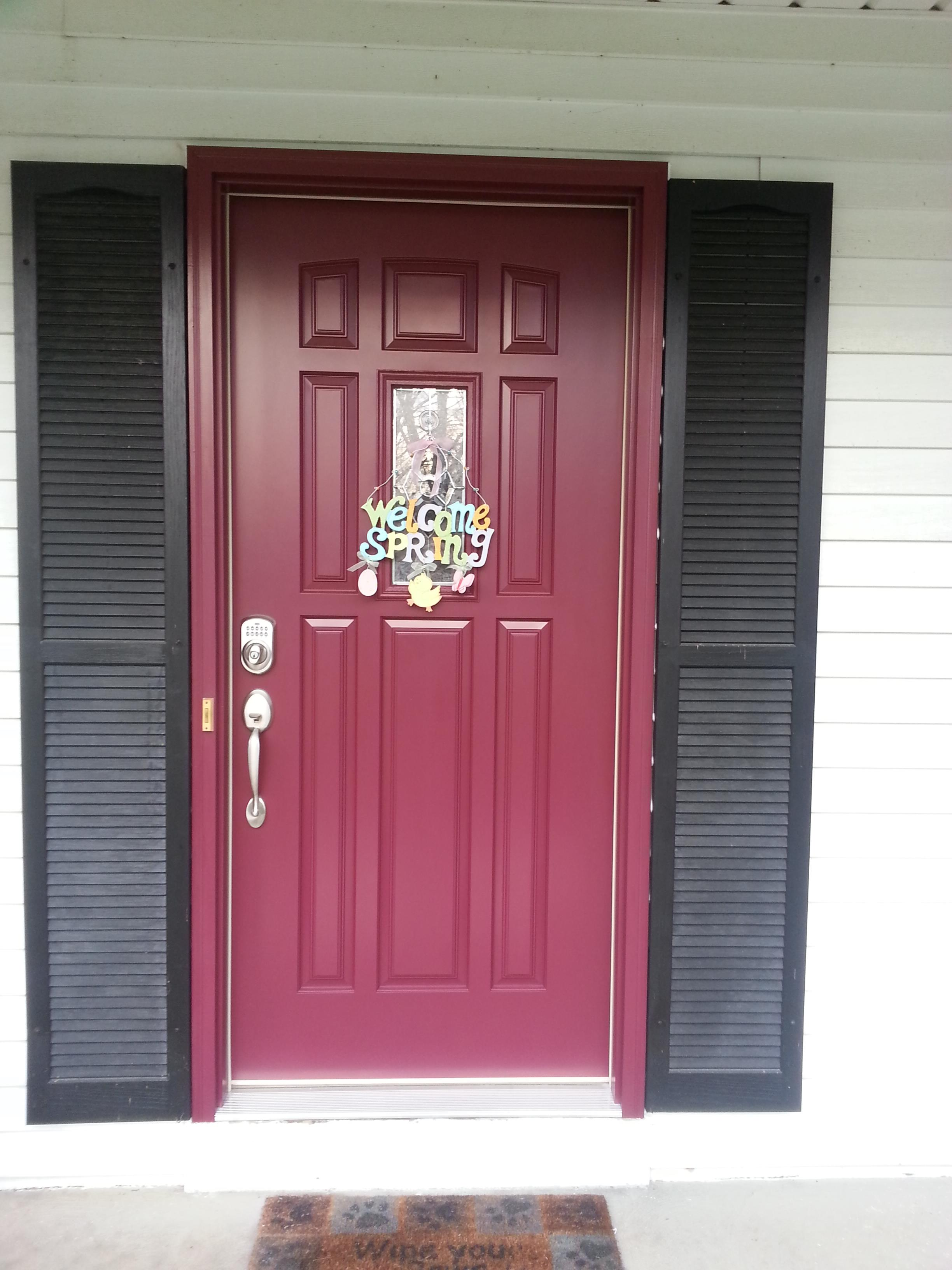 Cl 92 Fiberglass Entry Door With Key Less Entry Lock