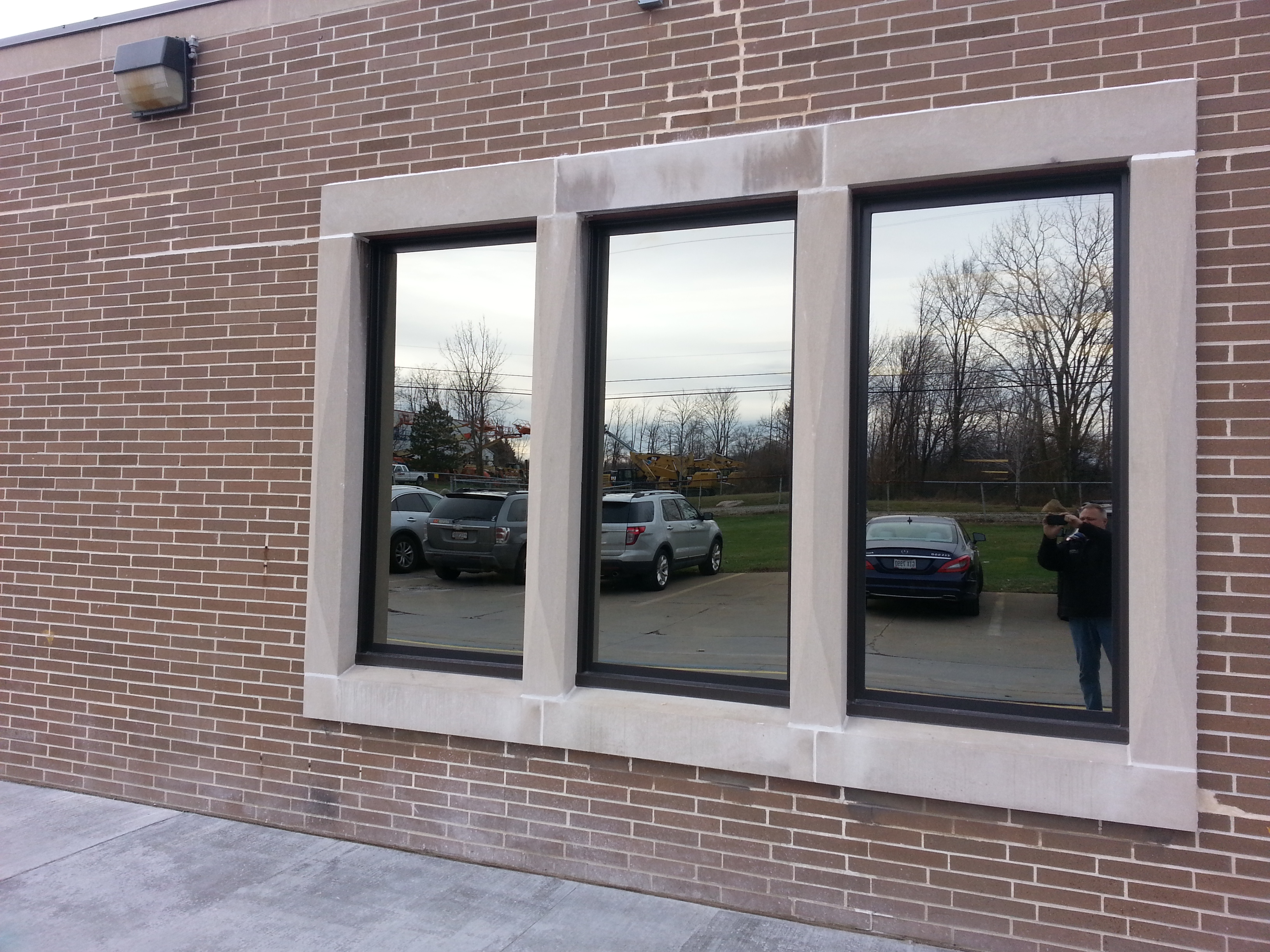 Commercial Painted Windows Picture And Awning Bronze