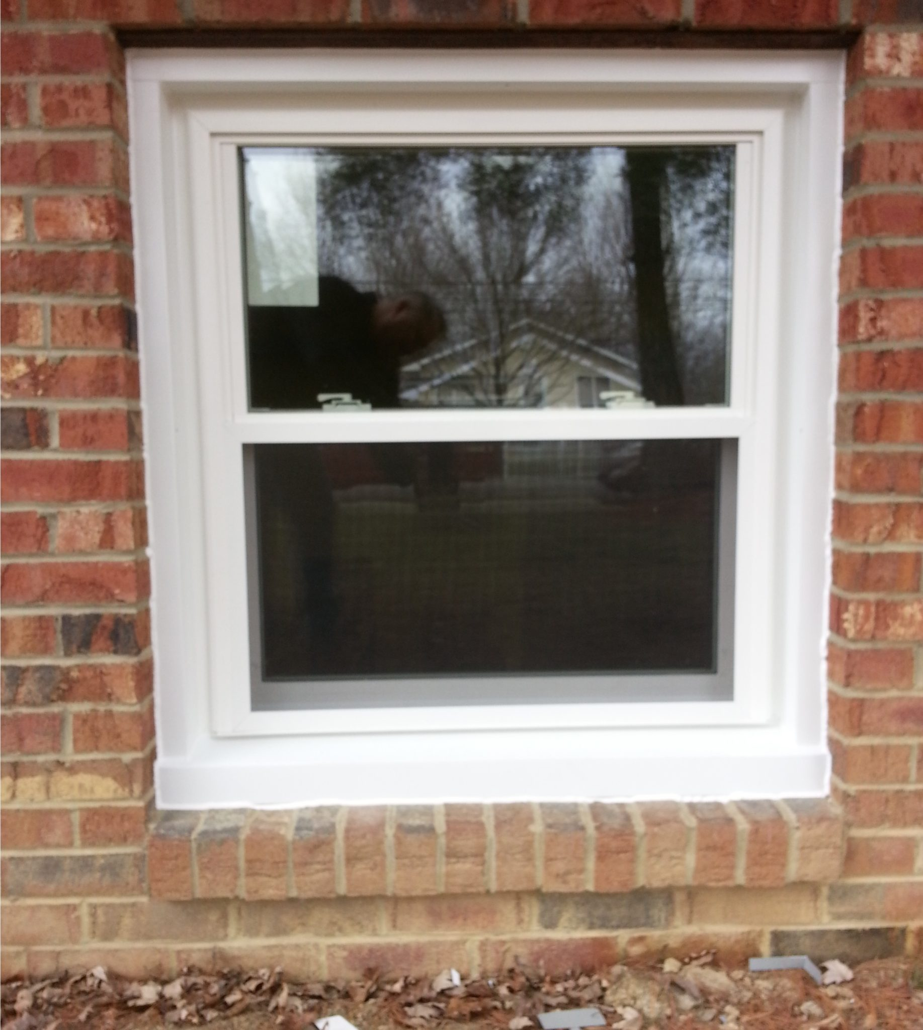 Double Hung Window Full Cap In Brick Integrity Windows