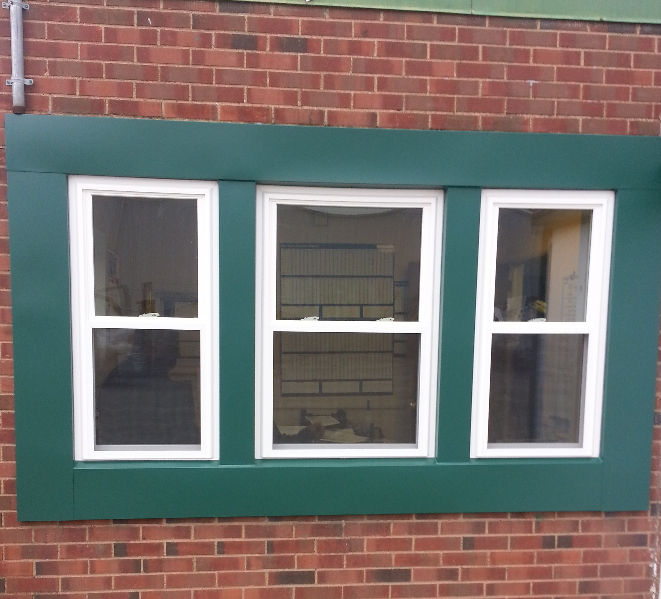 Commercial Windows 3 Double Hung With Custom Color