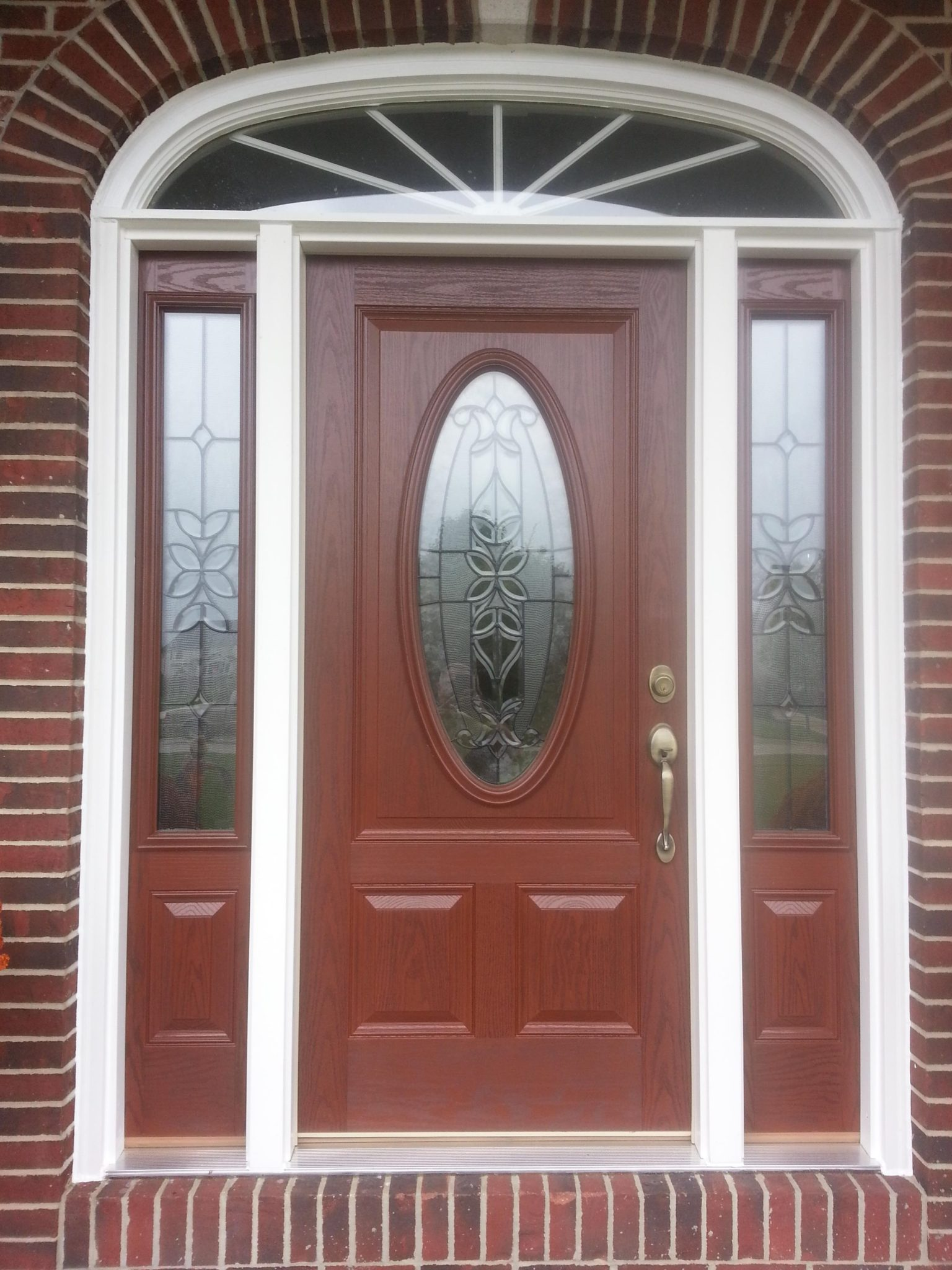 Textured Fiberglass Entry Door & Side Lites in Avon