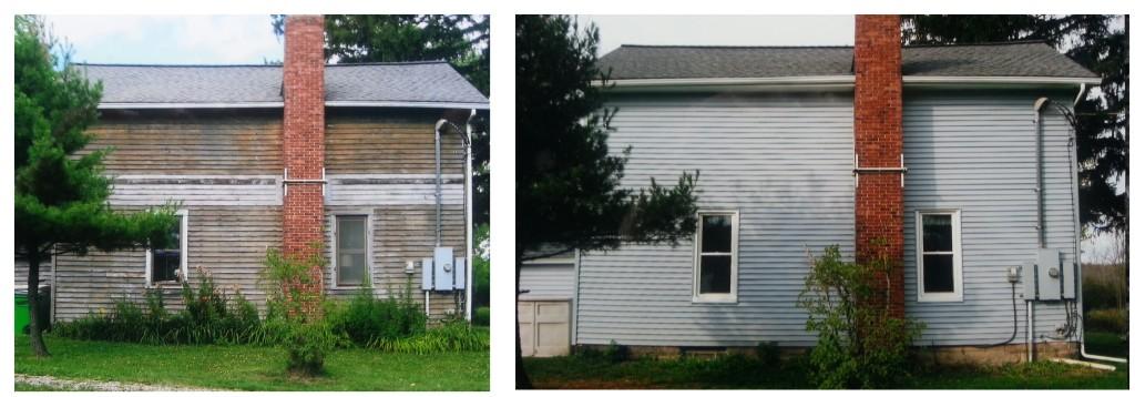 Twinsburg, Ohio new vinyl siding and double-hung windows