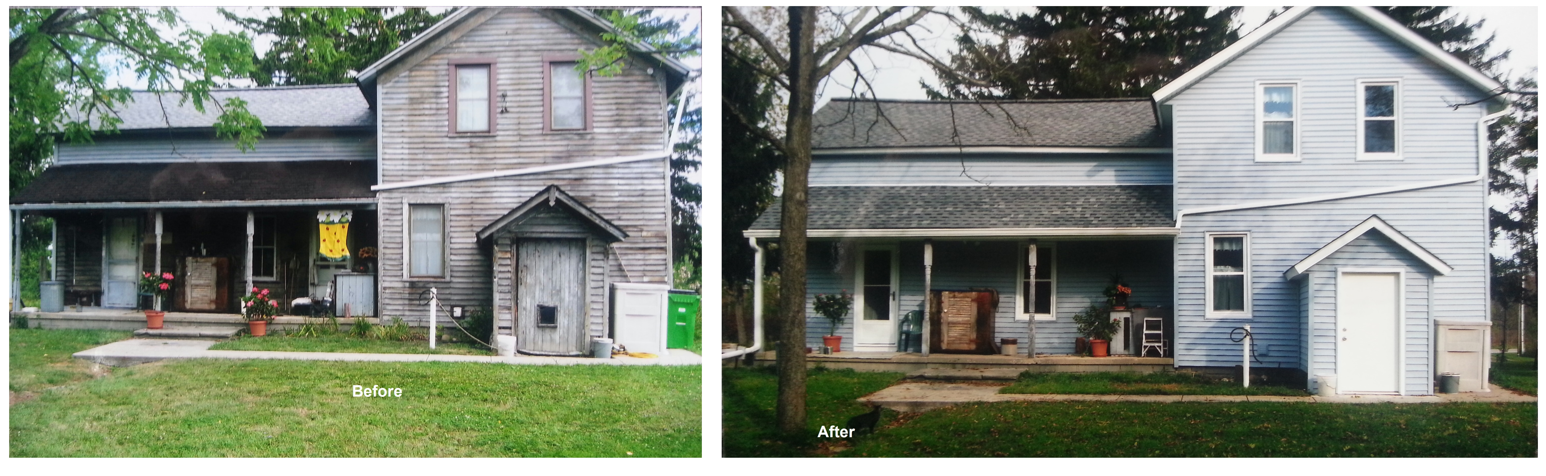 Windows doors siding Twinsburg Ohio before and after