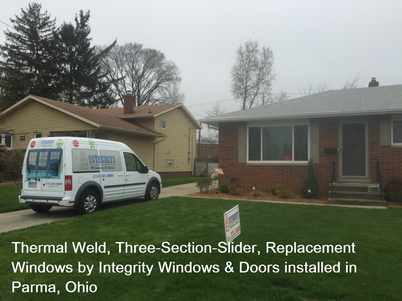 Parma, OH Replacement Windows: Thermal Weld Three-Section Slider