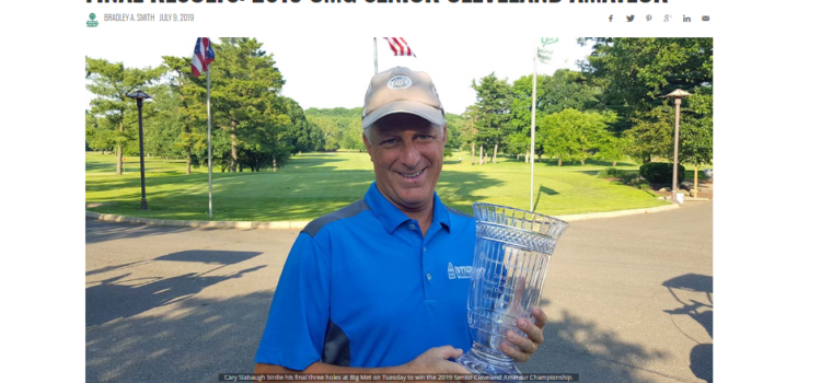 Integrity Window's Cary Slabaugh Wins 2019 CMG Senior Cleveland Amateur