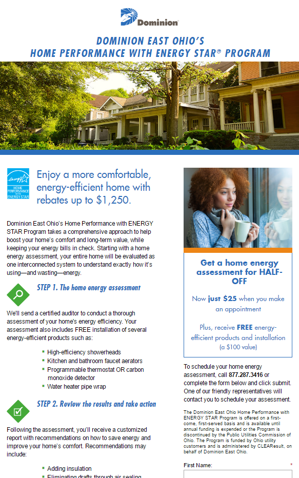 Cleveland Energy Efficient Rebate Programs for New Windows