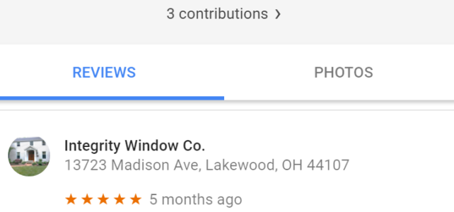 Parma Customer Leaves 5 Star Review for Replacement Window Job