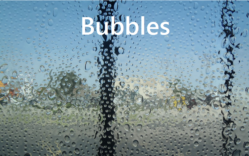 Kitchen Cabinet Glass Bubbles