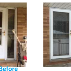 New Entry Door & Storm Door with Side Lite in Seven Hills, OH