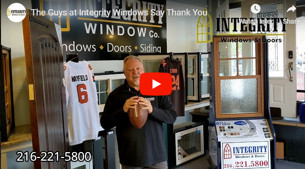 Thank You from Integrity Windows. We Are Grateful for You!