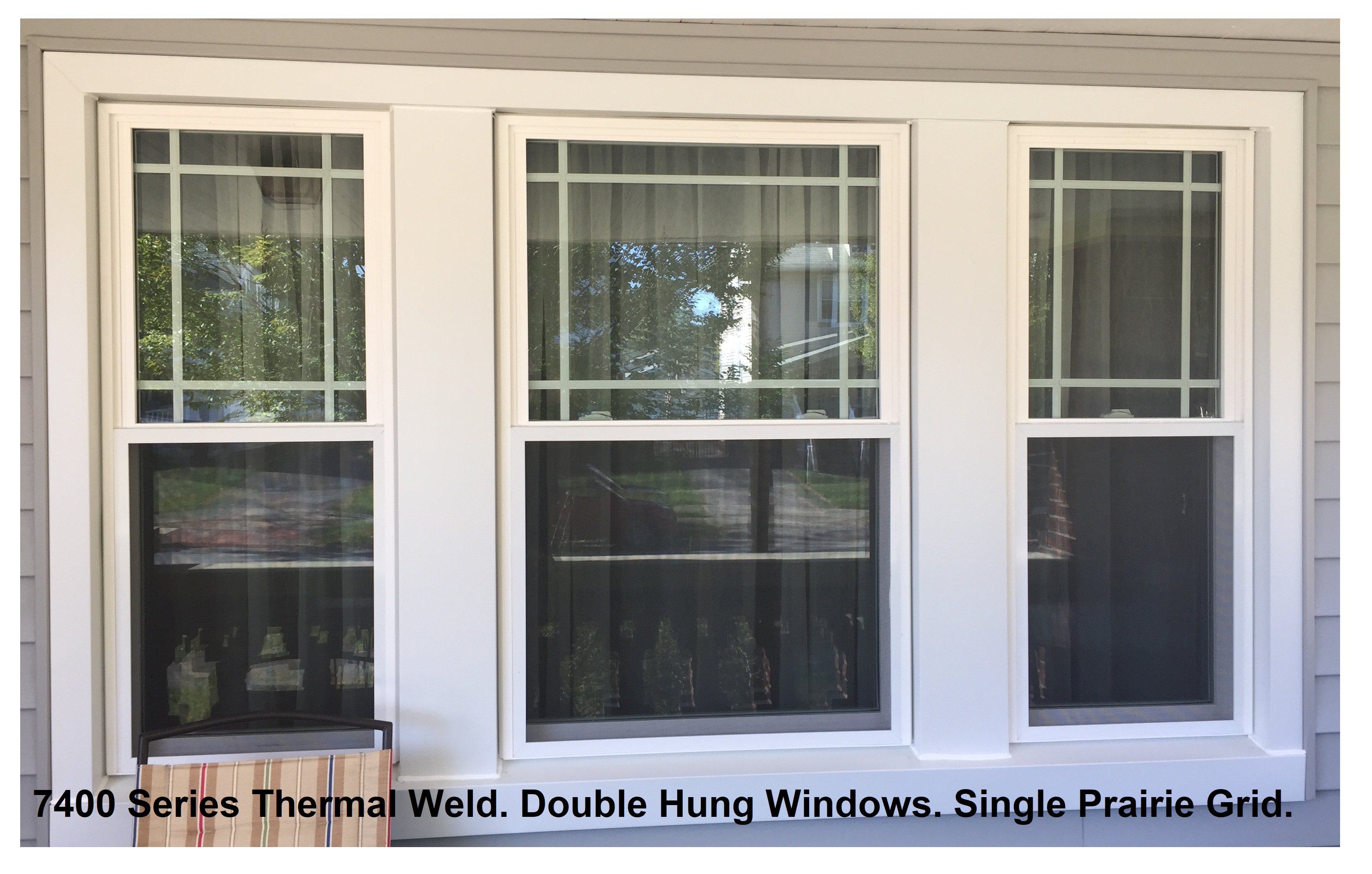 Vinyl Replacement Window With Prairie Grids