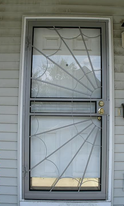 Security Door Spider Web Design Integrity Windows