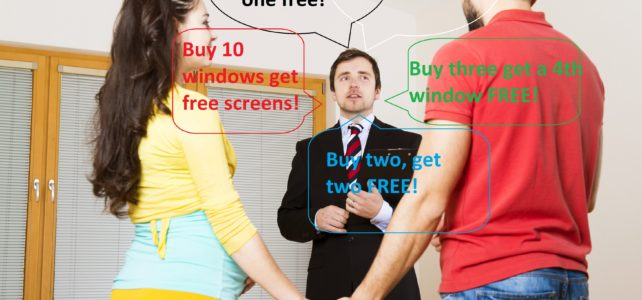 Replacement Window Sales Tactics: Buy One Get One Free