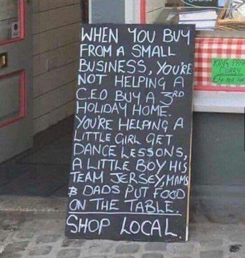 Buying from a small business