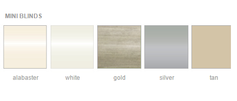 mini blind in window color options